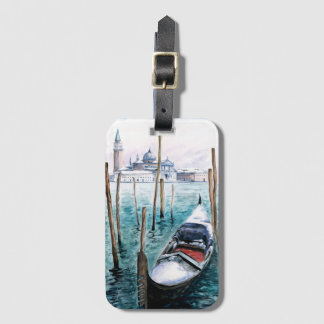 Winter in Venice Luggage Tag