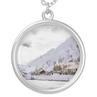 WINTER IN WALES SILVER PLATED NECKLACE