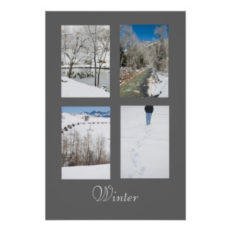 Winter in Western Colorado Poster