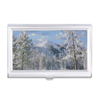 Winter in Yellowstone National Park, Wyoming Business Card Holder