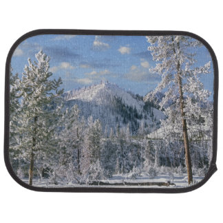 Winter in Yellowstone National Park, Wyoming Car Mat