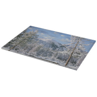 Winter in Yellowstone National Park, Wyoming Cutting Board