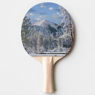 Winter in Yellowstone National Park, Wyoming Ping Pong Paddle