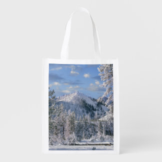 Winter in Yellowstone National Park, Wyoming Reusable Grocery Bag