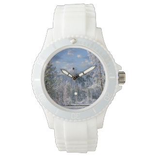 Winter in Yellowstone National Park, Wyoming Wristwatches