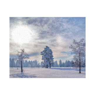 Winter into the Black Forest Gallery Wrap Canvas