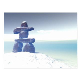 Winter inukshuk Postcard