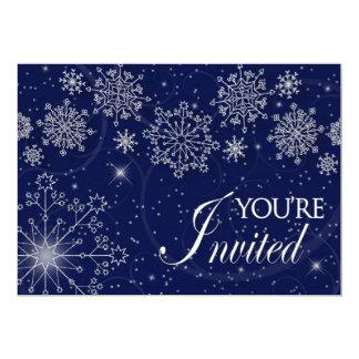 """WINTER INVITATION - MULTI PURPOSE -SNOWFLAKES 5"""" X 7"""" INVITATION CARD"""