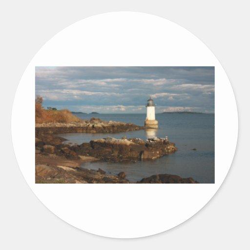Winter Island Round Sticker
