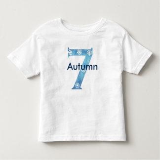 Winter isnpired 7th birthday toddler T-Shirt