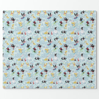 WINTER JOY Mirabelle the boston terrier. Wrapping Paper
