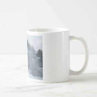 winter joy snowy road estonia basic white mug
