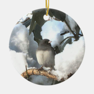 Winter Junco Christmas Ornament