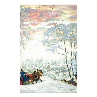 Winter._Kustodiev Stationery