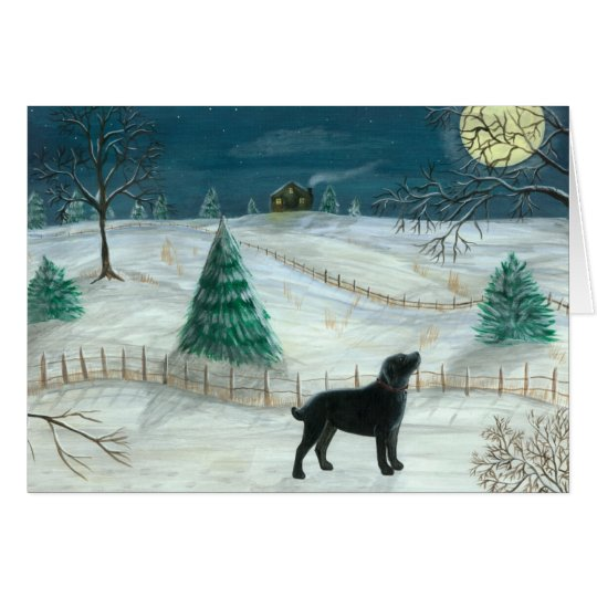 Winter Labrador Greeting Card