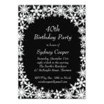 Winter Lace 40th Birthday Party Invitation