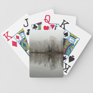 Winter Lake and Tree Scene from Austria Bicycle Poker Deck