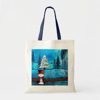 Winter Lake Christmas Folk Gift Bags
