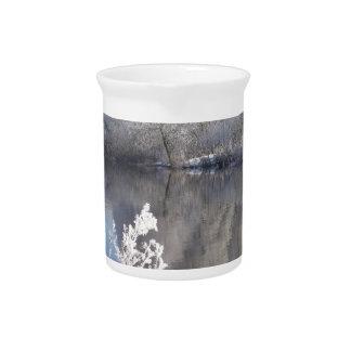 Winter lake drink pitcher