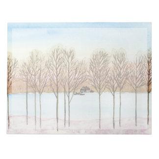 Winter Lake Getaway Notepad