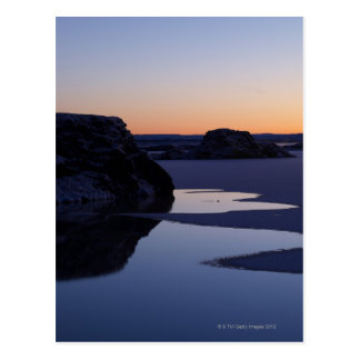 Winter, Lake Myvatn, Iceland Postcard
