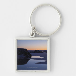 Winter, Lake Myvatn, Iceland Silver-Colored Square Key Ring