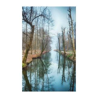 WInter Lake Reflection Landscape Canvas