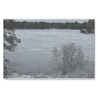 Winter Lake Tissue Paper