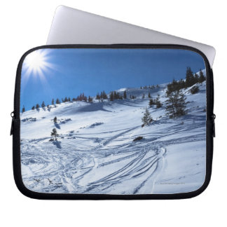 Winter land  Winter sun Laptop Sleeve
