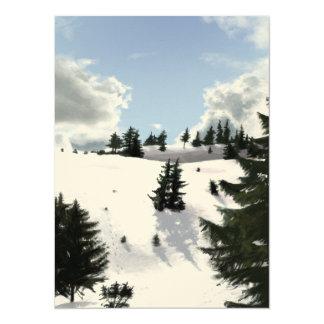 Winter landscape 14 cm x 19 cm invitation card