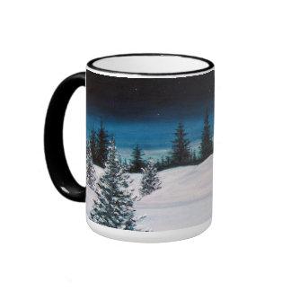 Winter Landscape 15 oz. Ringer Coffee Mug