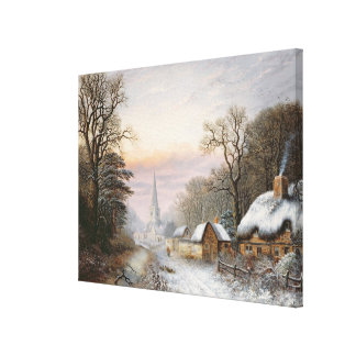 Winter landscape, 1869 canvas print