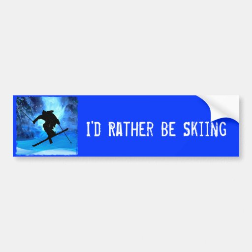 Winter Landscape and Freestyle Skier Bumper Stickers