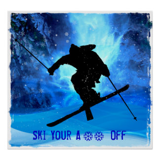 Winter Landscape and Freestyle Skier Posters