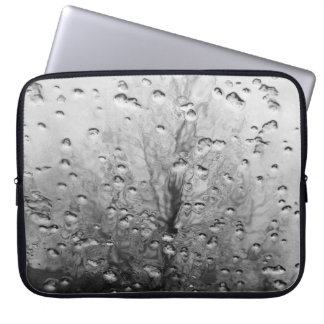 Winter landscape black and white laptop sleeve