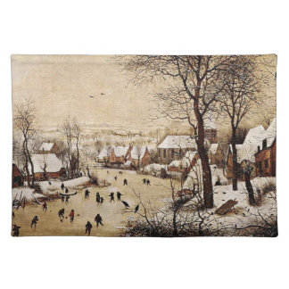 Winter Landscape by Pieter Bruegel the Elder, 1565 Placemat