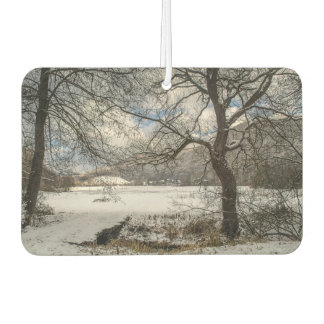 Winter landscape car air freshener