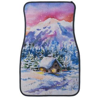 Winter landscape car mat