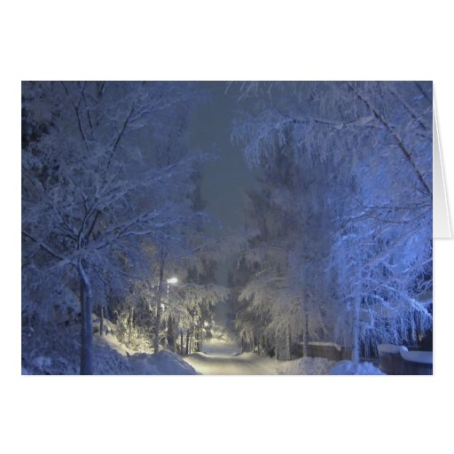 Winter Landscape Christmas Greeting Card.
