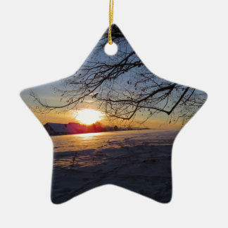 Winter Landscape Christmas Ornament