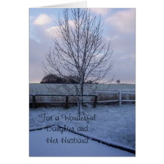 Winter Landscape Daughter Husband Christmas Greeting Card