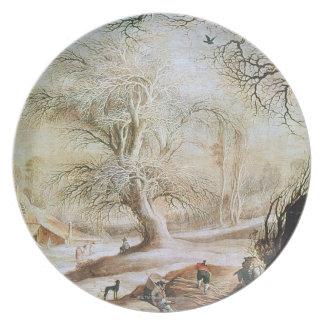 Winter Landscape Dinner Plates