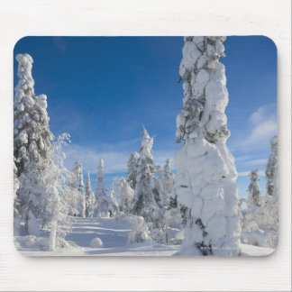 Winter landscape in Lappland Mouse Mat