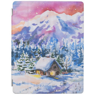 Winter landscape iPad cover