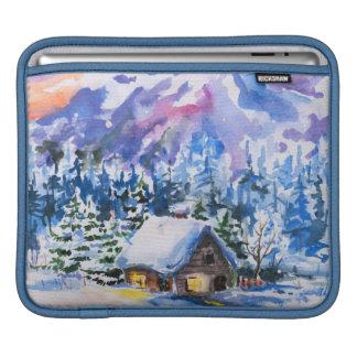 Winter landscape iPad sleeve