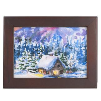 Winter landscape keepsake box