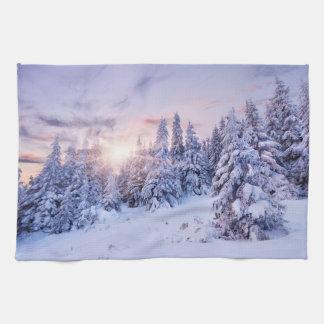 Winter Landscape Kitchen Towel