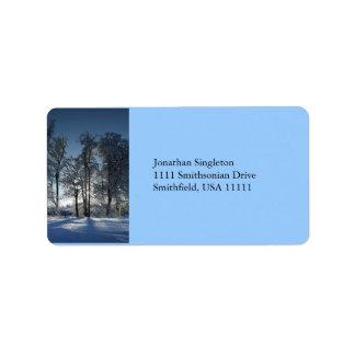 Winter Landscape Label