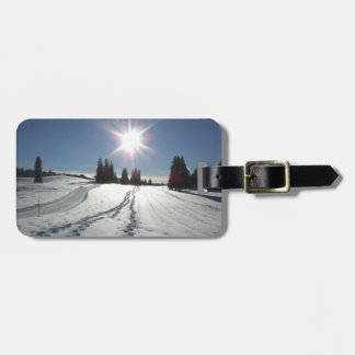 Winter landscape luggage tag
