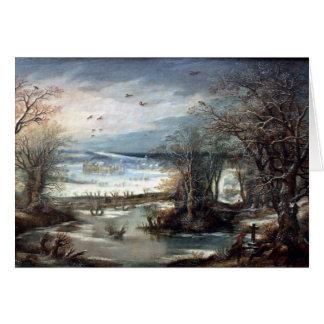 Winter Landscape met Kastell van Tervuen - Alsloot Card